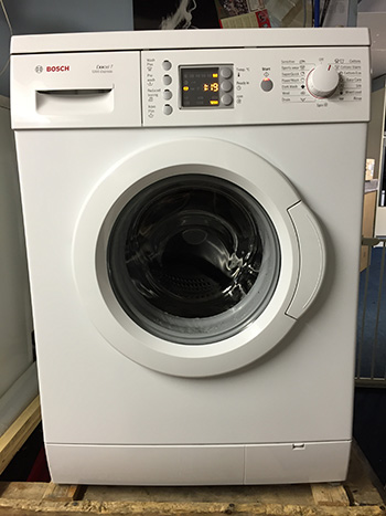 Refurbished silver washing machine