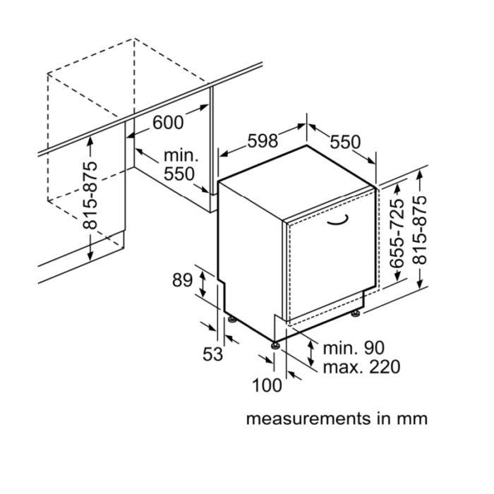 Bosch SMV50C10GB Integrated Dishwasher