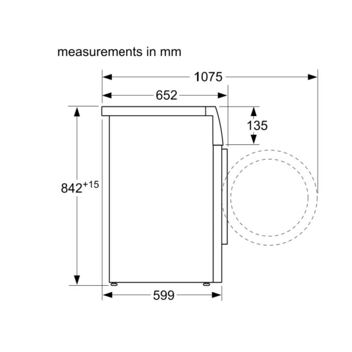 Bosch WTN83201GB Condenser Tumble Dryer
